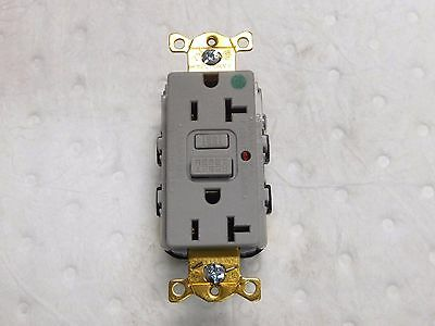Hubbell Self Grounding GFCI Receptacle 125V 20A 1 Phase 5-20R NEMA GFR8300HGYLA