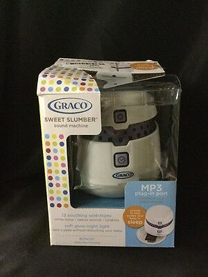 Graco Sweet Slumber Sound Machine 12 Soothing Selections + MP3 Port