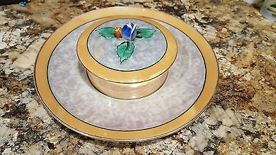 Vintage Noritake Hand Painted Made In Japan Covered Bowl W/attached Plate