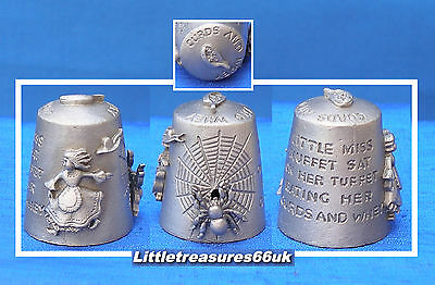 Pewter Little Miss Muffet Thimble.....
