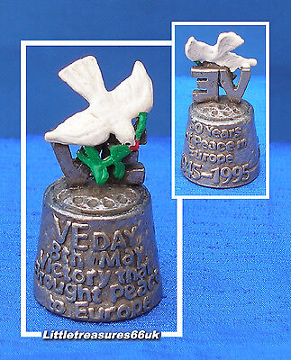 Pewter Stephen Frost White Dove Of Peace Thimble.....