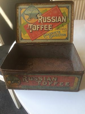 Vintage Tin Box -Russian Toffee High Class Chocolates And Confectionery