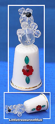 China With Glass Teddy Thimble.....