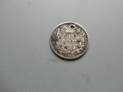 Victoria - Silver Sixpence - 1874 holed
