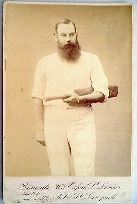 W. G Grace – Gloucestershire & England Test Player 1880-1899 Cabinet Card Photo