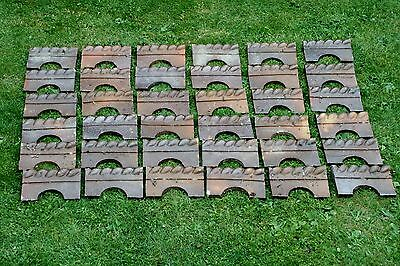 Reclaimed Victorian Salt Glazed Rope Edge Edging Tiles (36)