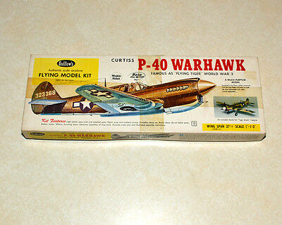 Guillow's Curtiss P-40 Warhawk Rubber Band Powered Model Airplane Kit