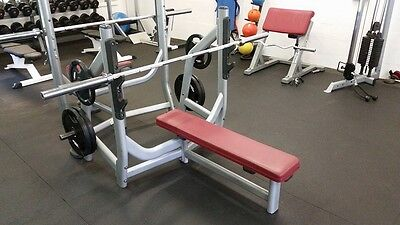 Olympic Commercial Flat Barbell Gym Bench With Plate Storage