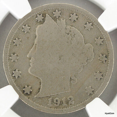 1912-S Liberty Head V Nickel 5C NGC Good Details