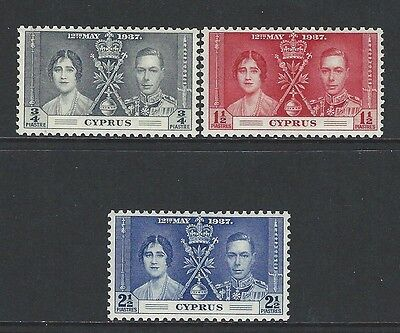 Cyprus - #140-#142 - King George Vi Coronation Set (1937) Mnh Sg #148-#150
