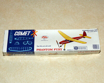 New in Box Comet Phantom Fury Rubber Band Powered Airplane Kit