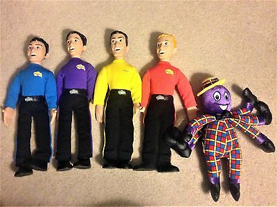 "Lot Of 5 The Wiggles 15"" Singing Talking 2003 Dolls Spin Master"