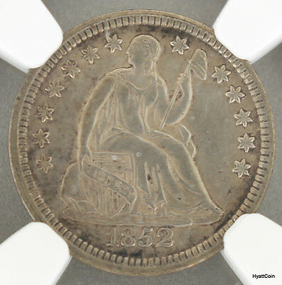 1852 Seated Liberty Silver Half Dime H10C NGC AU Details