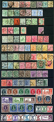 India Used Collection of QV to KG6 Including Shades - 105 Stamps