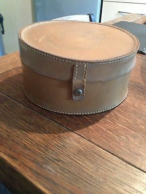 Small Brown Vintage Hat Box