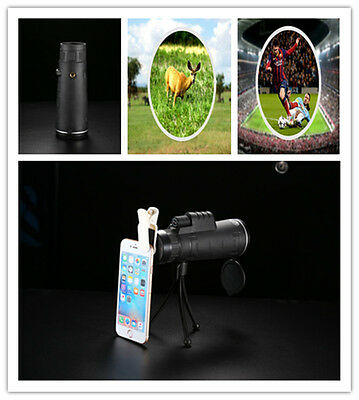 40X Zoom Optical Telephoto Camera Clip On Telescope Lens For Mobile Smart Phone