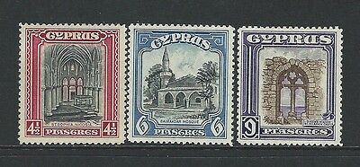 Cyprus - #131-#133 - Pictorials Mint Stamps (1934) Sg #139-#141