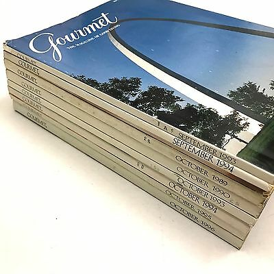 Vintage GOURMET Magazine ~ 8 Fall Issues (September October) 1980s 1990s ~ ADS