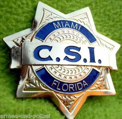 C.S.I. Miami Florida US Badge