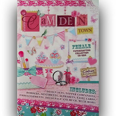 Crafters Companion Camden Town Female Papercrafting Collection CD-ROM