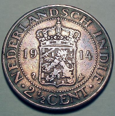 Netherlands East Indies 2-1/2 Cents 1914