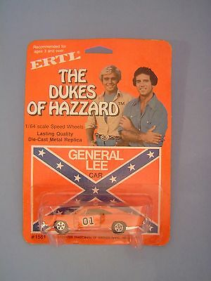 Ertl Dukes-Of-Hazzard General Lee Car #1581 Die Cast 1/64 NIP 1981