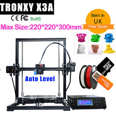 High Precision Auto Leveling 3D Printer Aluminum Large Printing Size DIY Kit LCD