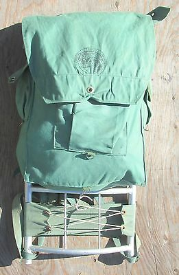 Vintage Official Trail Camper / Canvas Scouts Aluminum Frame Backpack