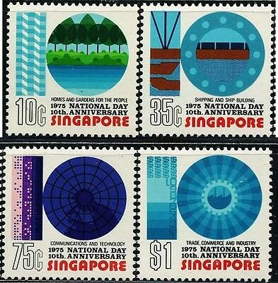 SINGAPORE SC232~5 Set, 1975 National Day,  MNH $7