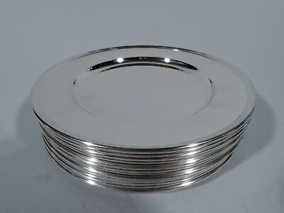Tiffany Plates - 20063 - 12 Bread & Butter Butters - American Sterling Silver