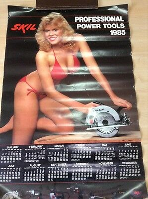Vtg 1985 bikini Girl  Power Tools Store Display Posters