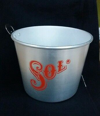 Sol Lager Metal Ice Bucket With Bottle Opener Handle - Home Bar - Pub - Mancave