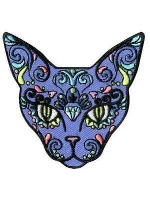 Extreme Largeness Sugar Skull Cat Patch