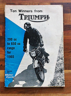 Vintage Triumph Motorcycle Supplement: 8 October 1964