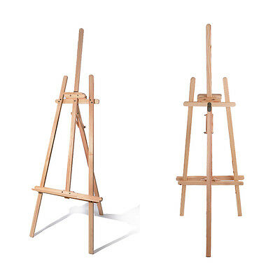 STUDIO EASEL 5ft (1500MM HIGH) ARTIST ART CRAFT STAND DISPLAY PINE WOOD Wooden