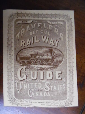 1869 Official Guide of Railways Steam Navigation Lines of United States June