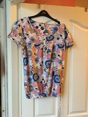 Size 14 Next Maternity Floral T Shirt