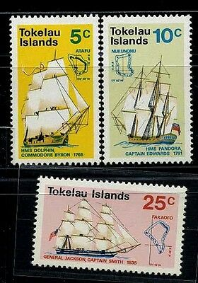 TOKELAU GB, SC22~4  Set, 1970 Ships  MNH Cv$9