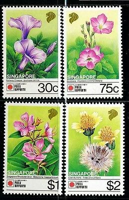 SINGAPORE SC611~4 Set, 1991  Flowers, MNH $7