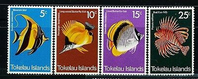 TOKELAU GB, SC45~8 Set, 1975 Fish  MNH $7