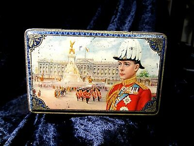 Antique Royal Commemorative Tin Edward Viii  Coronation  1936
