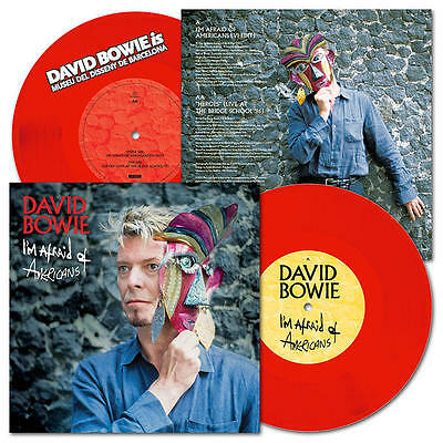 """David Bowie Is I'm Afraid Of Americans 7"""" Red Vinyl Barcelona Exclusive Rare!"""