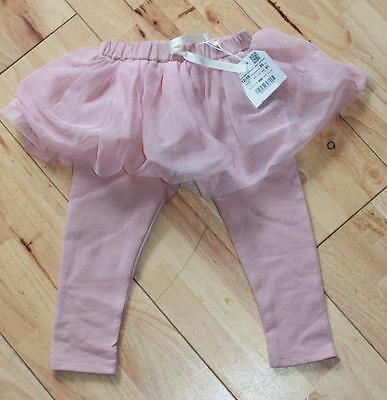 New With Tags Zara Baby 12 - 18 Months Girls Stunning Pink Leggings Tutu Skirt