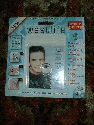 Westlife Interactive Cdrom Card Shane Filan Video Interview Photos 2000
