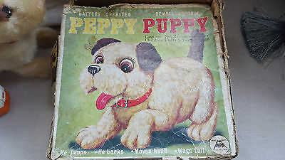 RARE Vintage 'Peppy Puppy' Battery Operated Toy in Original Box. By Iwaya, Japan