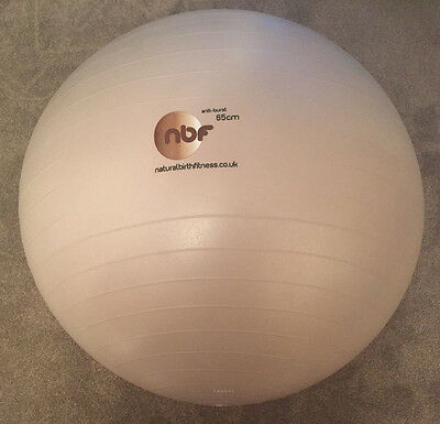 65cm Natural Birth & Fitness Birthing Ball with Pump - NBF pregnancy