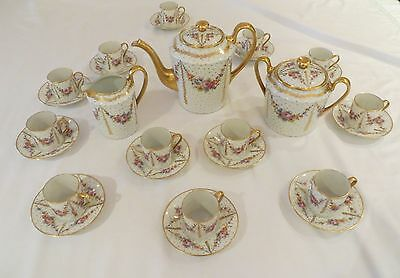 Unique  Limoges France Antique 27 Piece Hot Chocolate/tea Set  Grandmothers