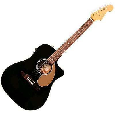 Fender Sonoran Sce Thinline Blk Westerngitarre Acoutic Guitar Dreadnought Pickup
