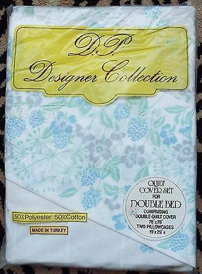 Double bed quilt cover set  - 1 quilt cover , 2 pillowcases - new in package
