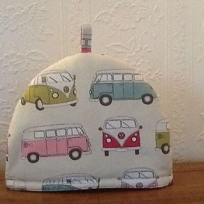 Teapot Cosy -Large -  Camper.Van - Pink ,100% cotton, fully insulated, washable.